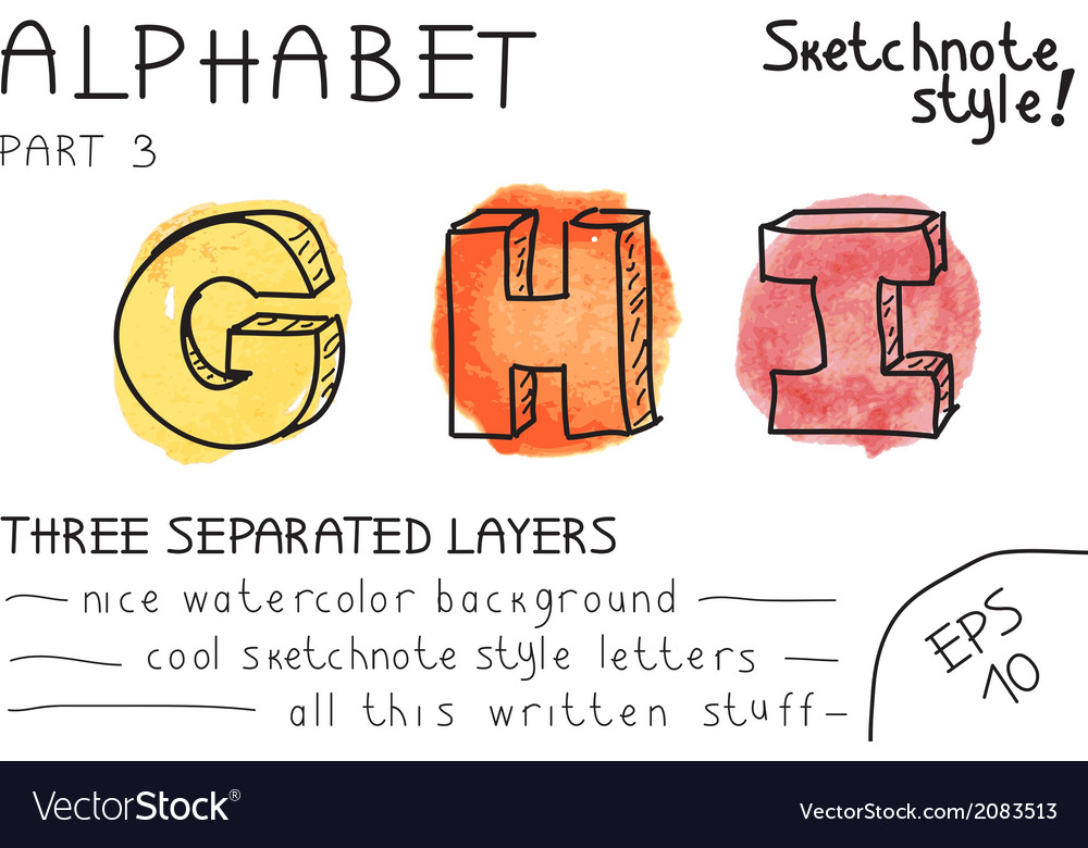 Alphabet - part 3 vector | Price: 1 Credit (USD $1)