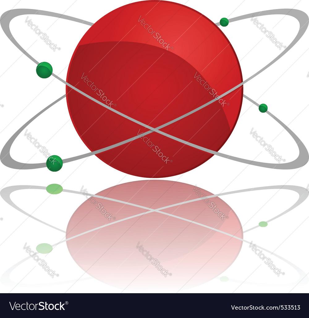 Atom symbol vector | Price: 1 Credit (USD $1)