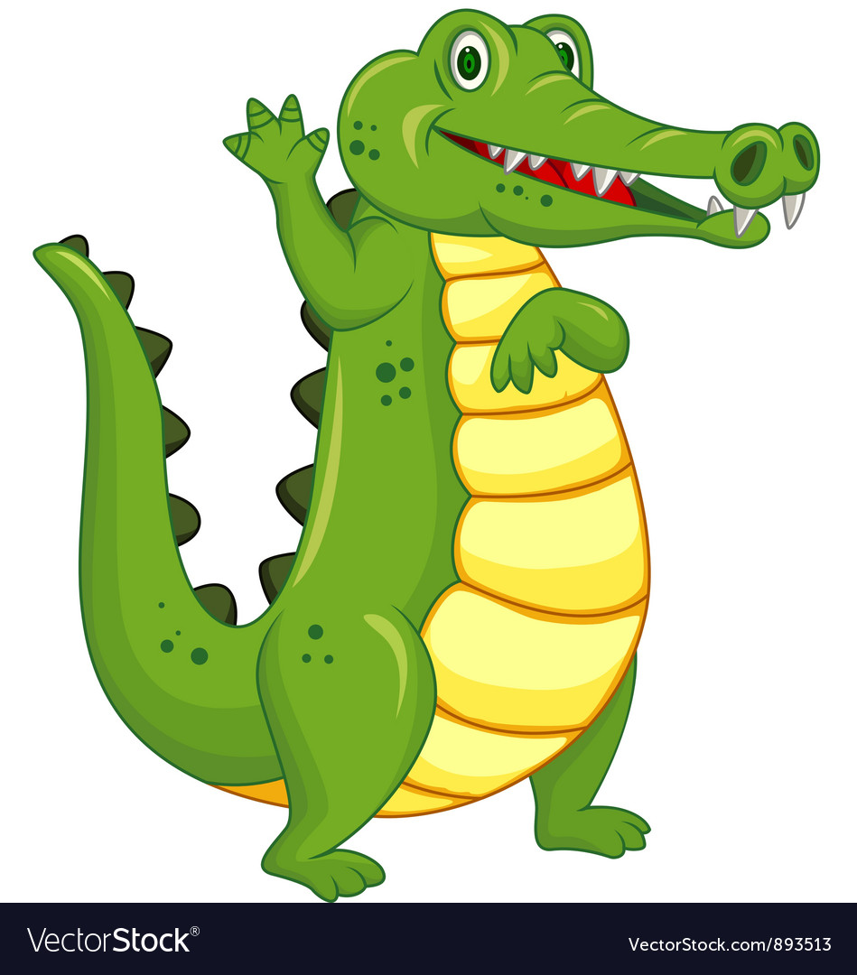 Cute crocodile cartoon vector | Price: 3 Credit (USD $3)