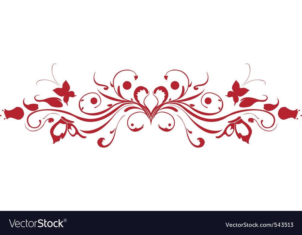Decorative floral garnish vector | Price: 1 Credit (USD $1)