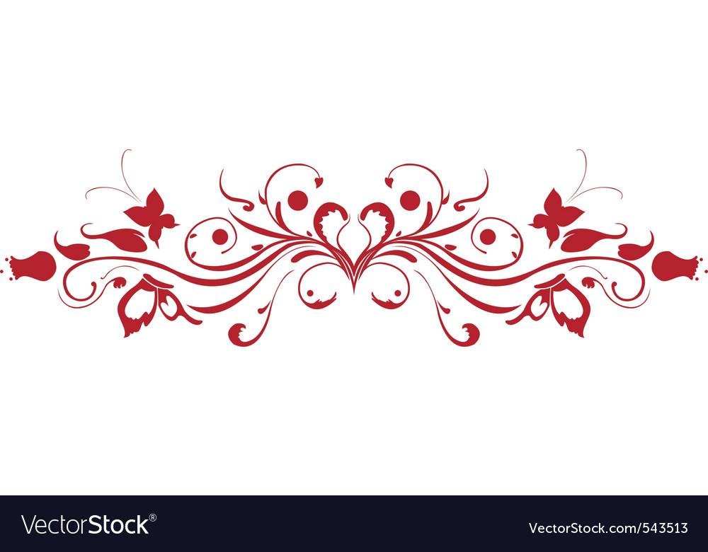 Decorative floral garnish vector | Price: 1 Credit (USD $1)