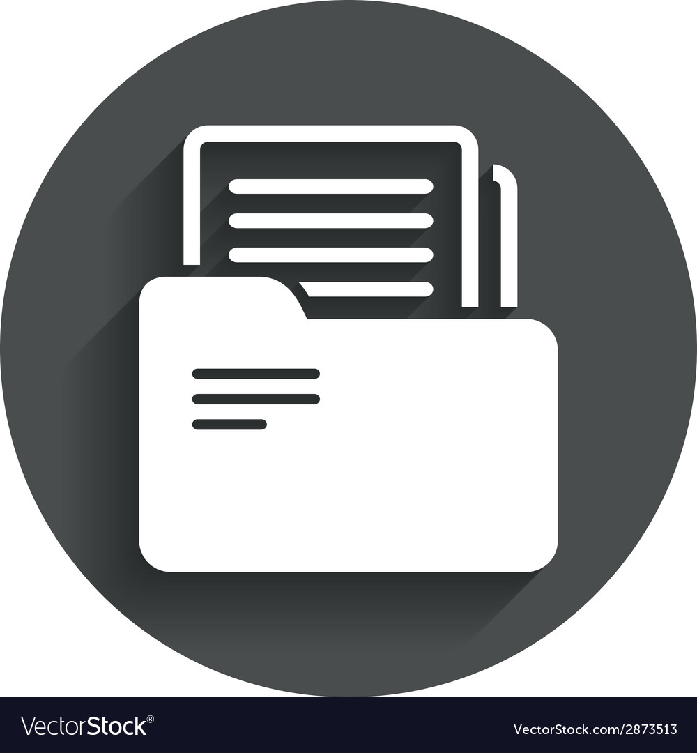 Document folder sign accounting binder symbol vector | Price: 1 Credit (USD $1)