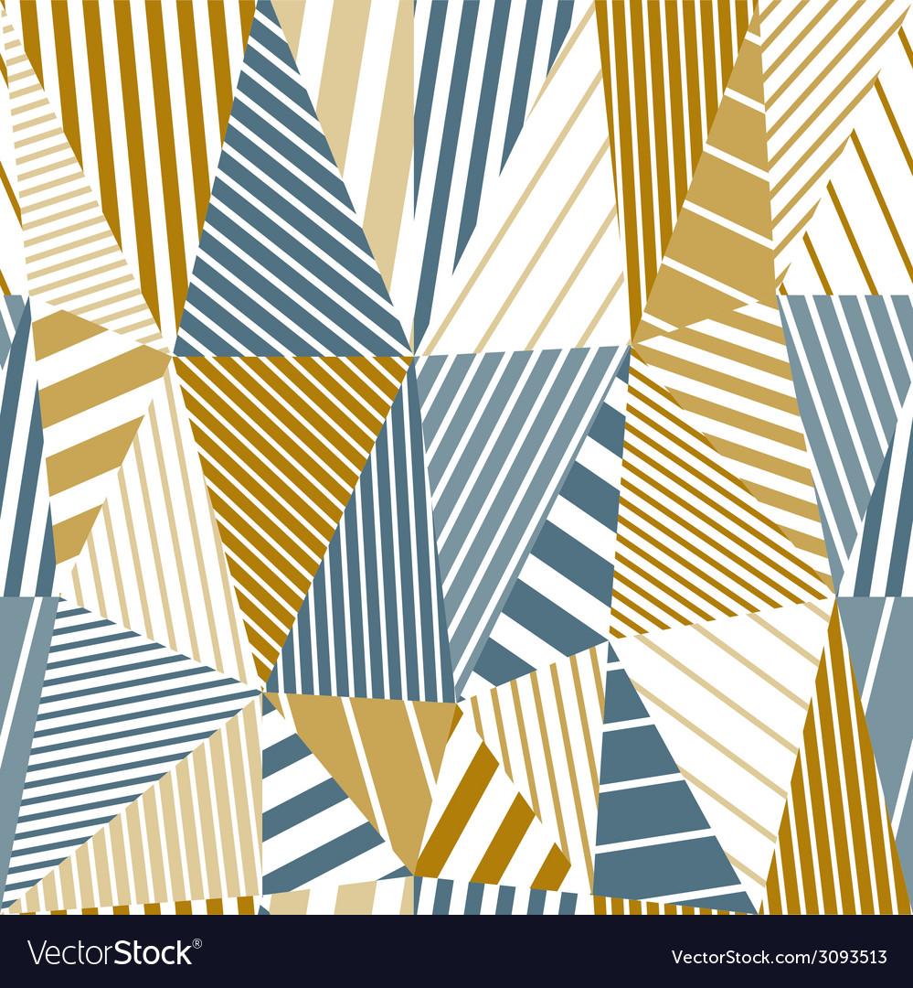 Geometric stripy seamless pattern vector | Price: 1 Credit (USD $1)