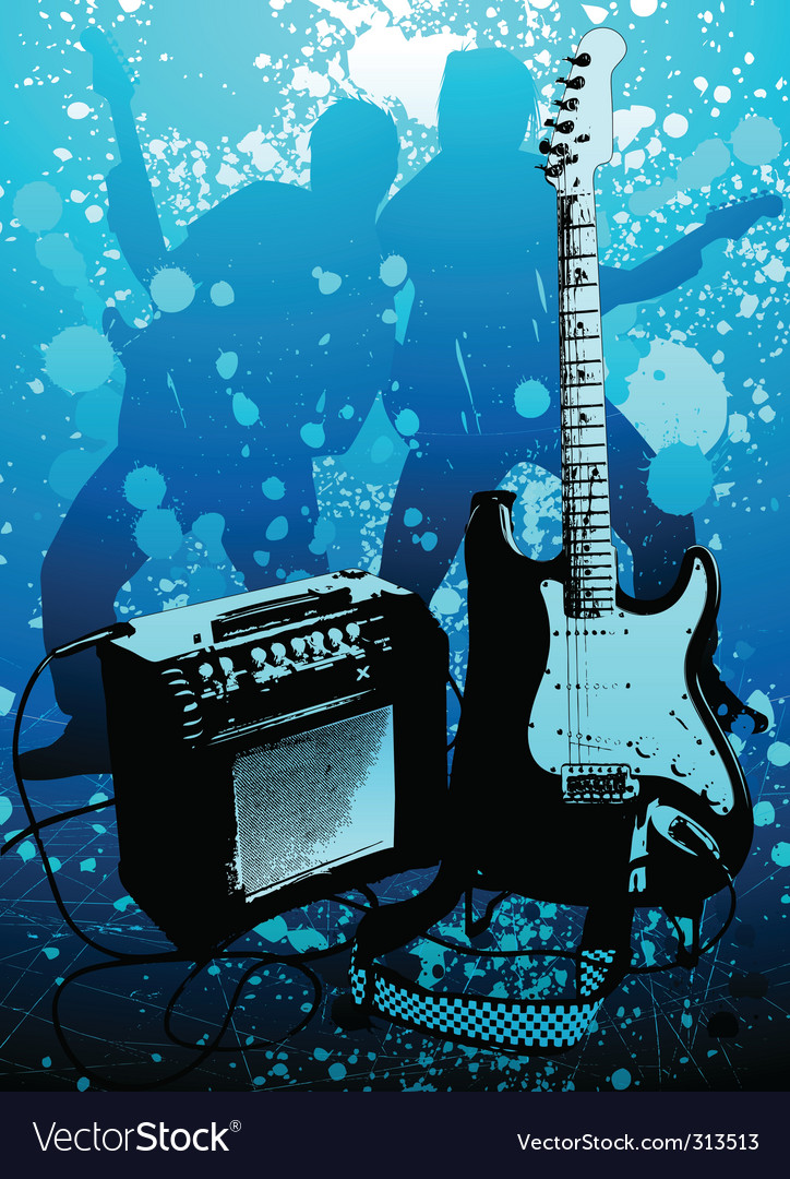 Grunge guitar vector | Price: 3 Credit (USD $3)