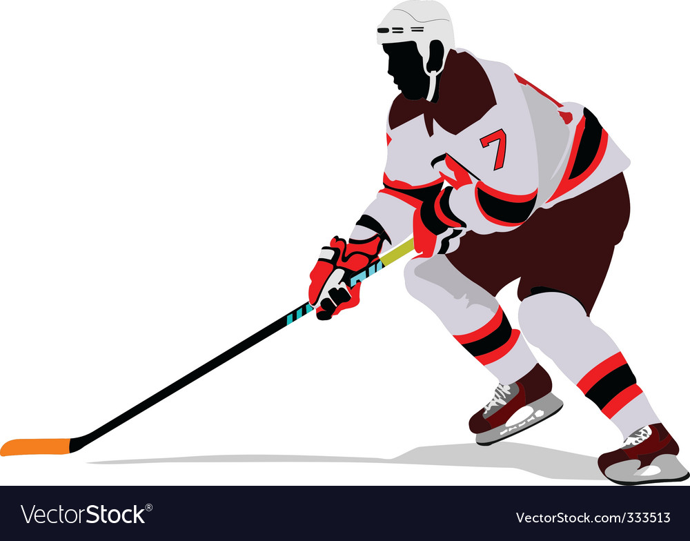 Ice hockey player vector | Price: 1 Credit (USD $1)