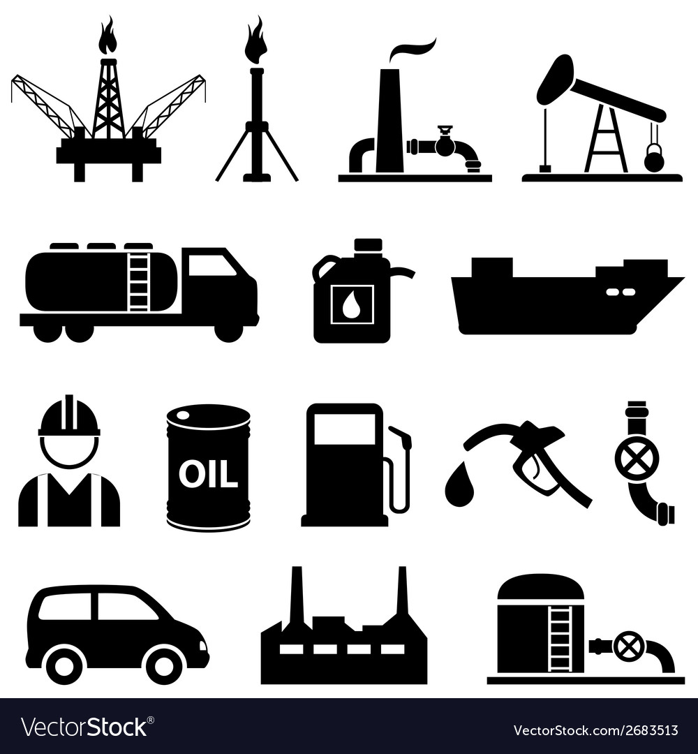 Oil icon set vector | Price: 1 Credit (USD $1)