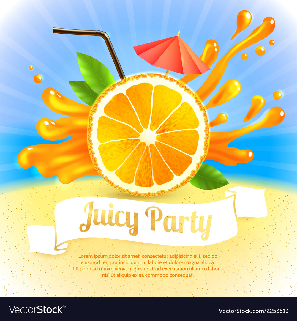 Orange juice party vector | Price: 1 Credit (USD $1)