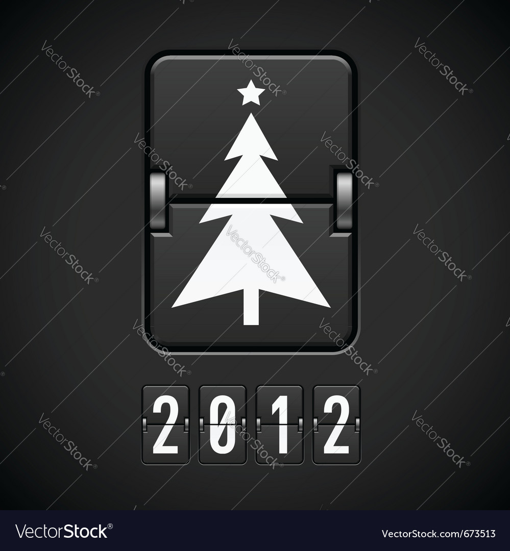 Scoreboard christmas tree vector | Price: 1 Credit (USD $1)