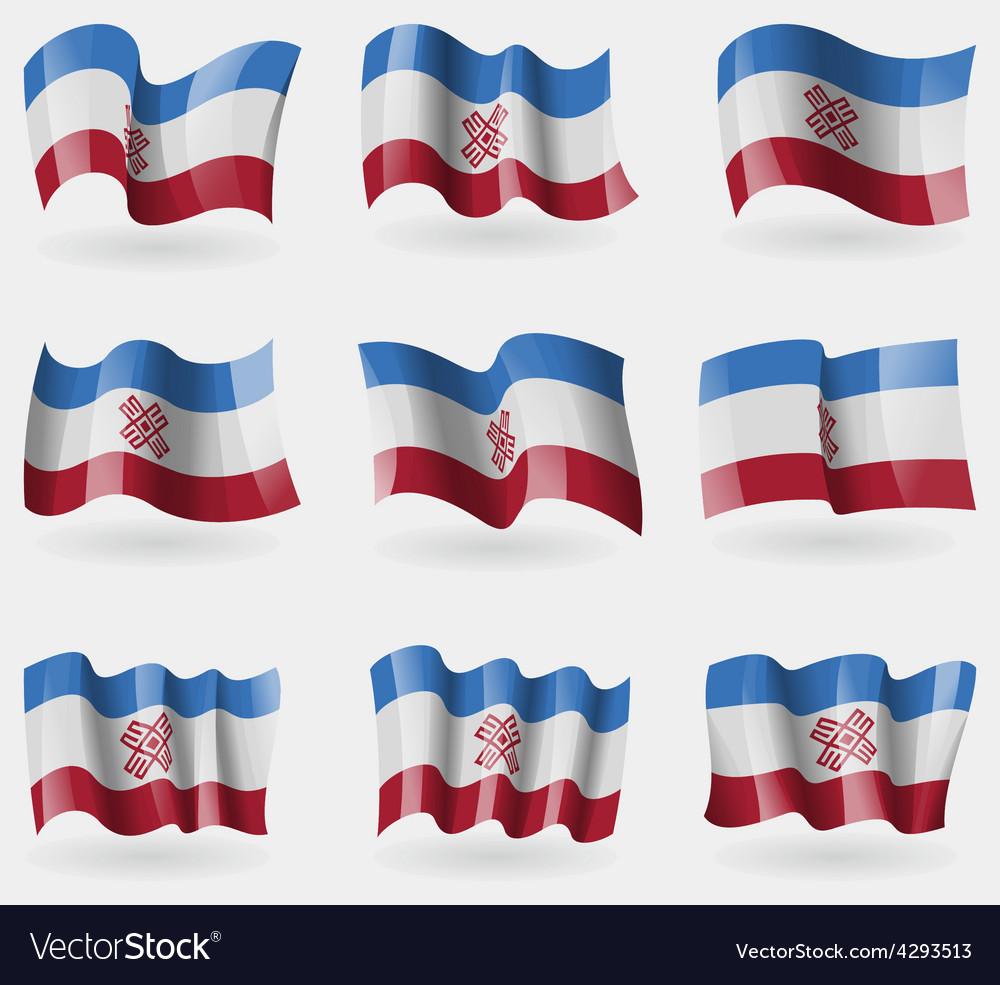 Set of mari el flags in the air vector   Price: 3 Credit (USD $3)