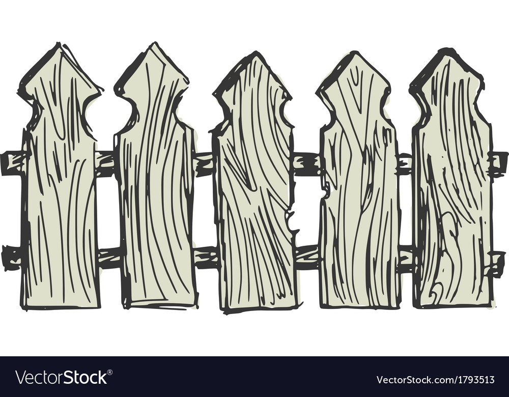 Wooden fence vector | Price: 1 Credit (USD $1)