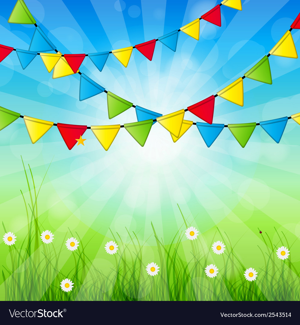 Abstract holiday nature background vector | Price: 1 Credit (USD $1)