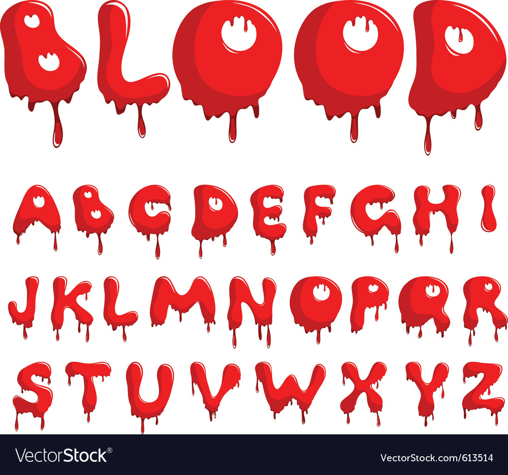 Blood alphabet vector | Price: 1 Credit (USD $1)