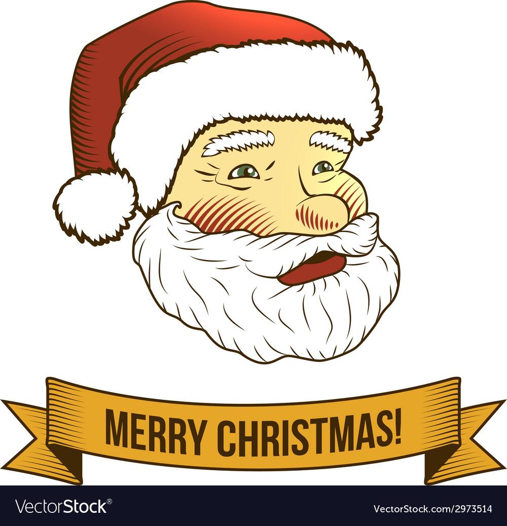 Christmas santa claus icon vector | Price: 1 Credit (USD $1)