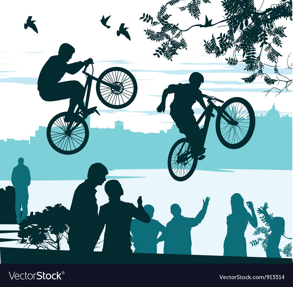 Cyclists perform vector | Price: 1 Credit (USD $1)