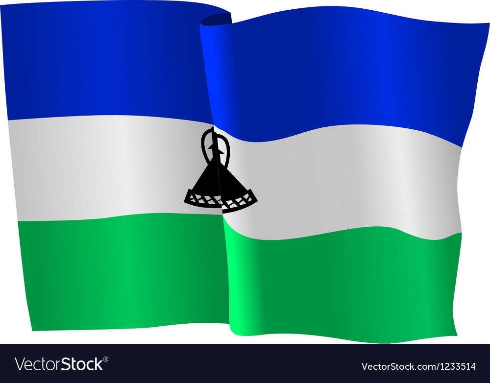 Flag of lesotho vector | Price: 1 Credit (USD $1)