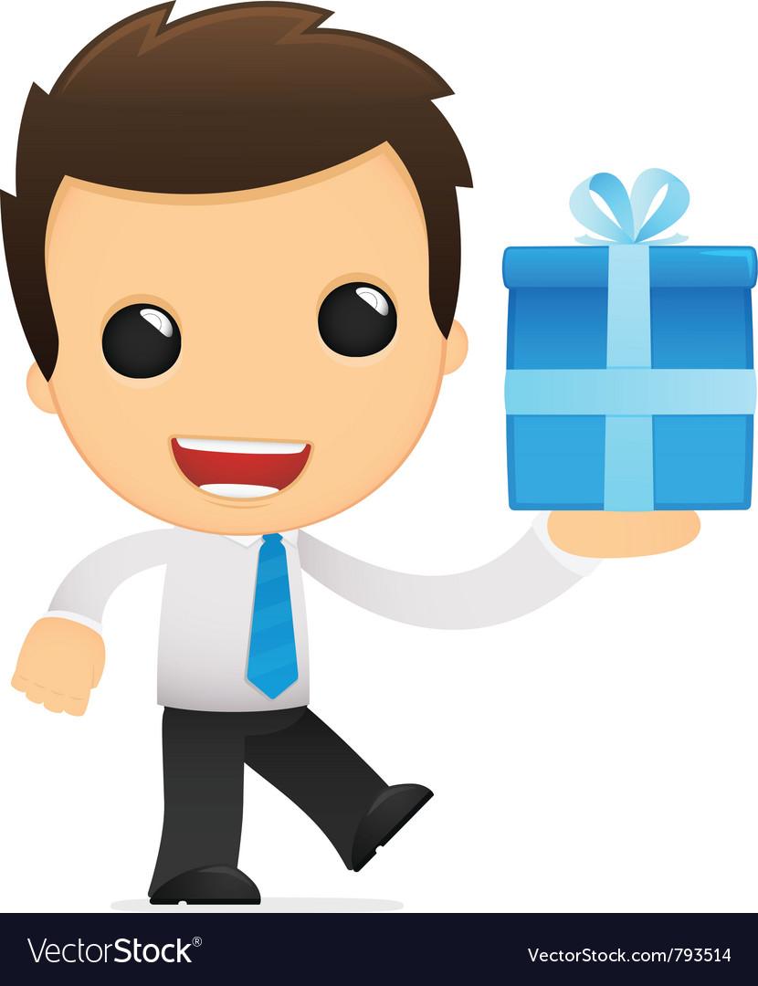 Funny cartoon office worker vector | Price: 1 Credit (USD $1)