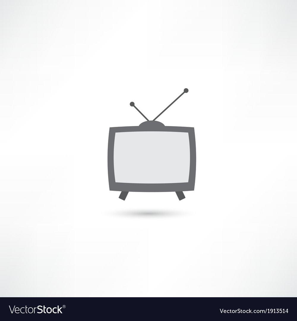 Grey television vector | Price: 1 Credit (USD $1)