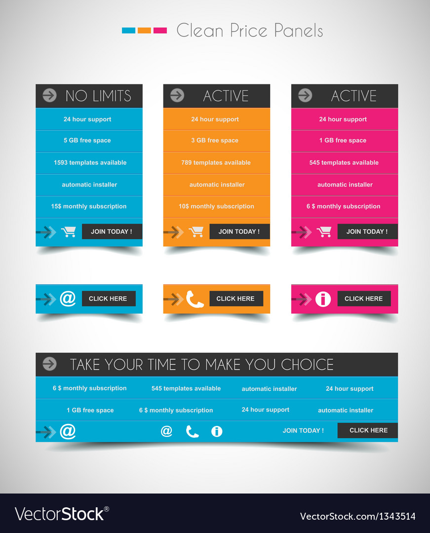 Infographic design template with paper tags vector | Price: 1 Credit (USD $1)