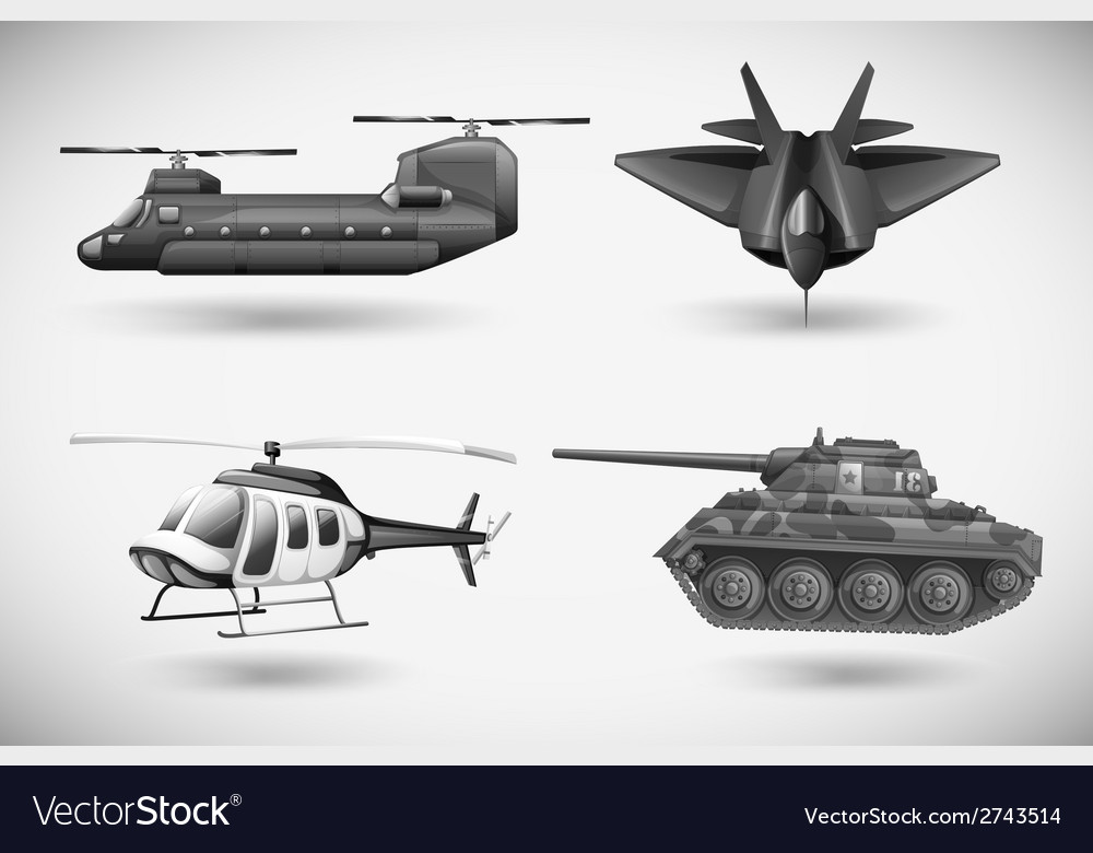 Military aircrafts vector | Price: 1 Credit (USD $1)