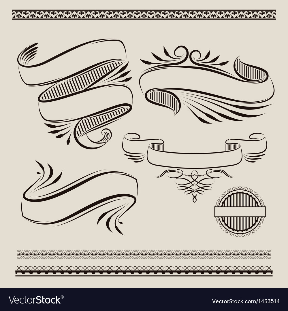 Ribbon swirl vector | Price: 1 Credit (USD $1)