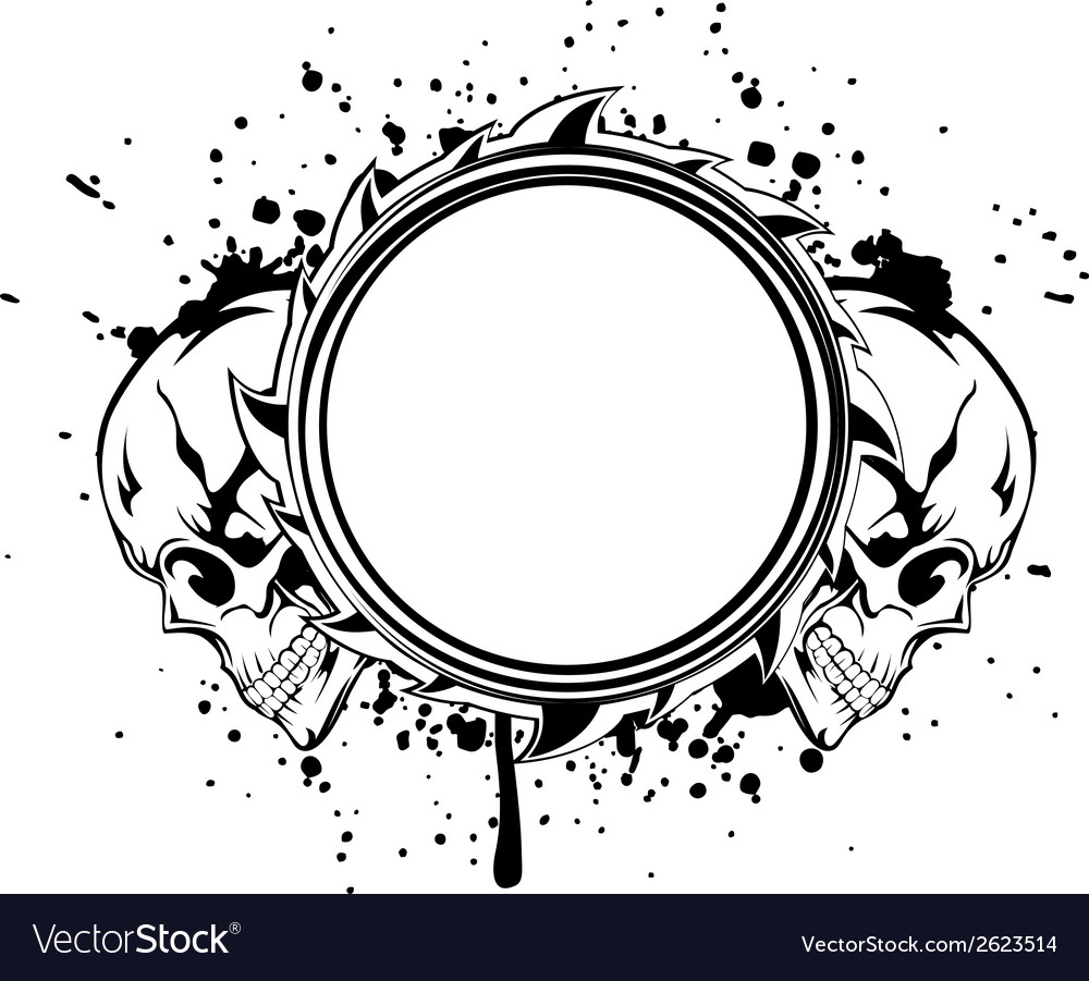 Skulls frame vector | Price: 1 Credit (USD $1)