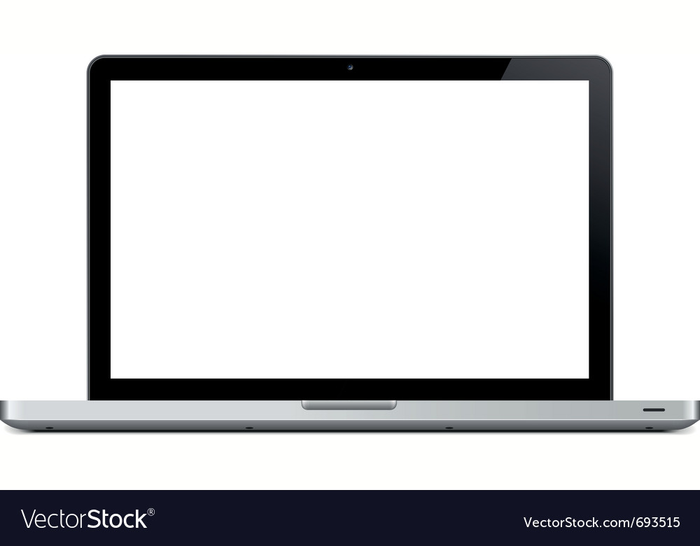 Blank laptop vector | Price: 1 Credit (USD $1)