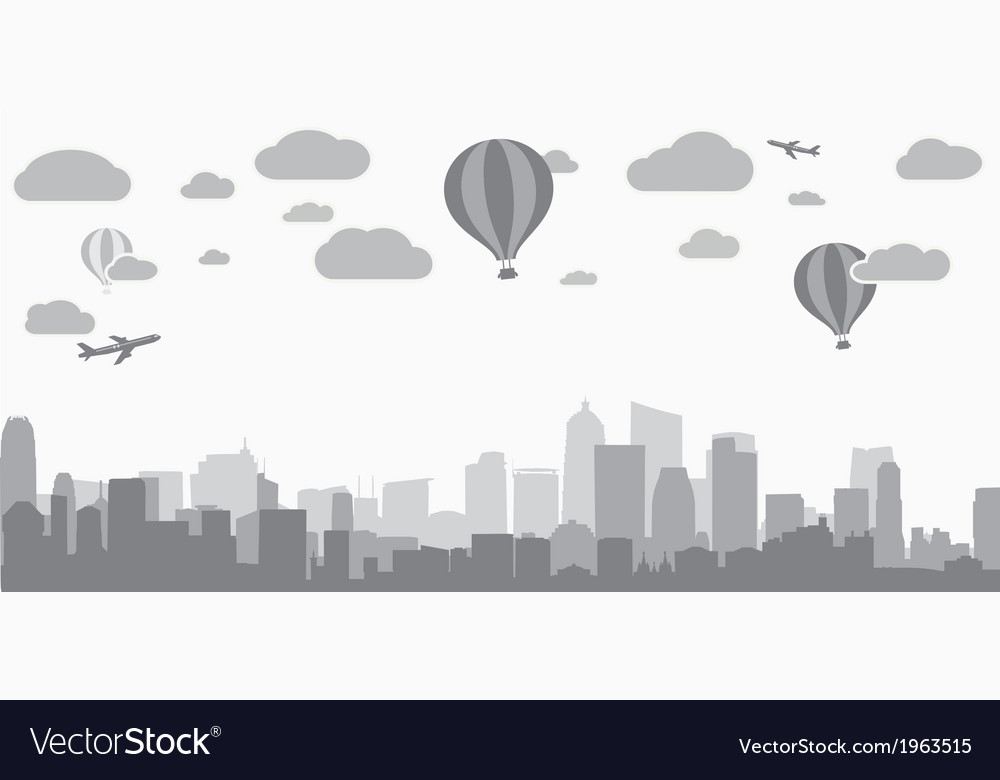 City background for advertising real estate vector | Price: 1 Credit (USD $1)