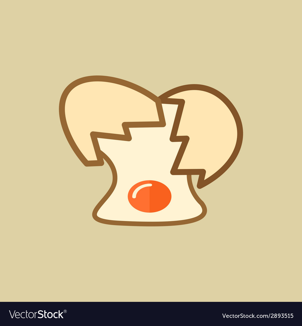 Egg food flat icon vector | Price: 1 Credit (USD $1)