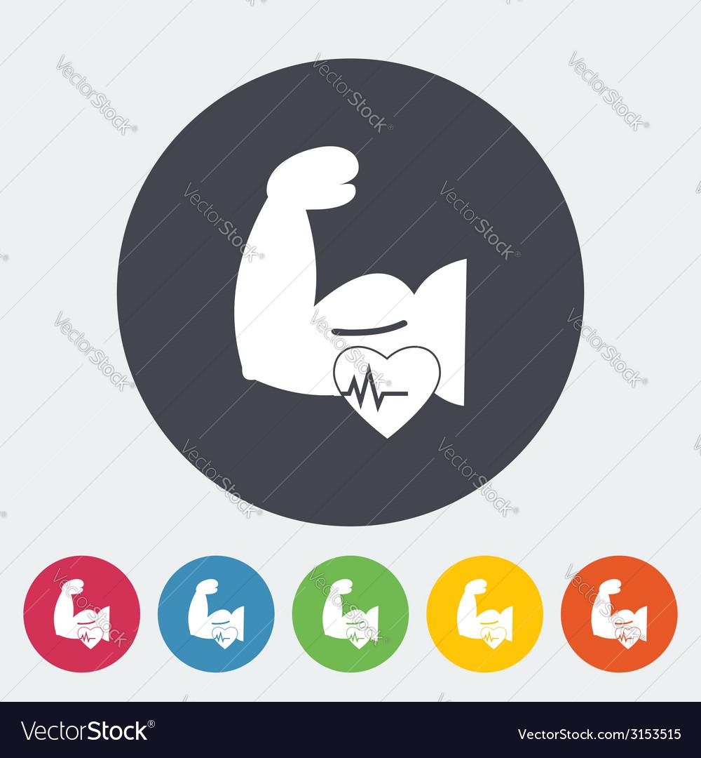 Icon of bodybuilding vector | Price: 1 Credit (USD $1)