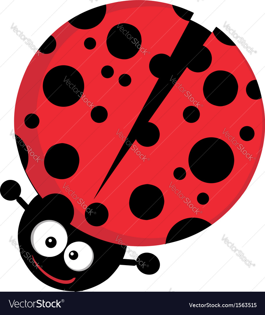 Lady bug cartoon vector | Price: 1 Credit (USD $1)