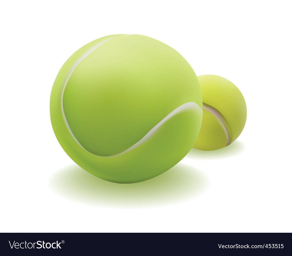 Light green ball for tennis vector | Price: 1 Credit (USD $1)