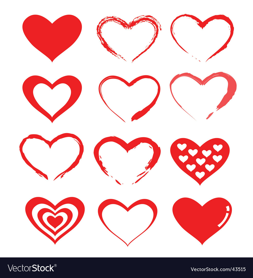 Love heart designs vector | Price: 1 Credit (USD $1)