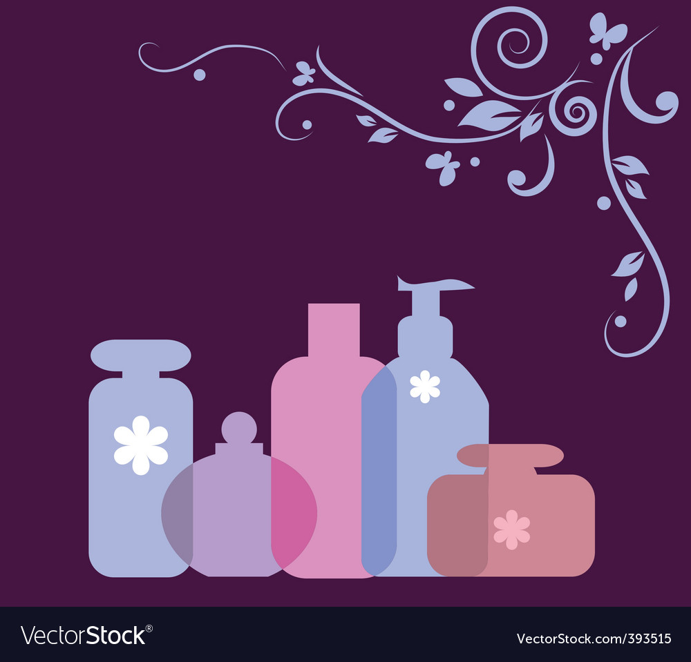 Perfumes and cosmetics vector | Price: 1 Credit (USD $1)