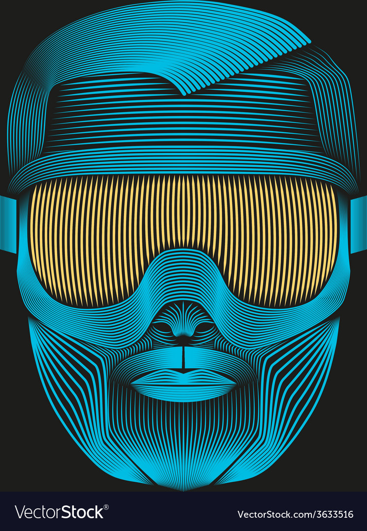 Creative artwork of symbol skier or snowboarder vector | Price: 1 Credit (USD $1)