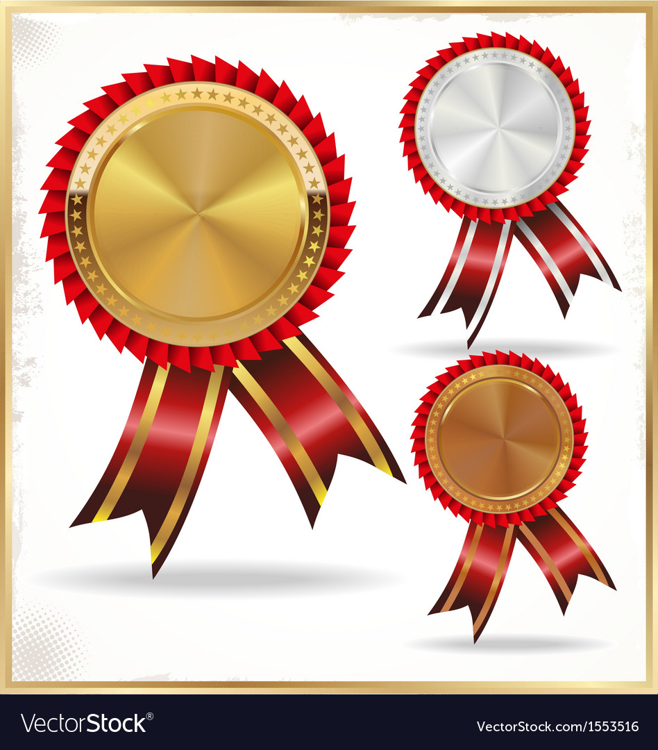 Gold silver and bronze labels vector | Price: 1 Credit (USD $1)