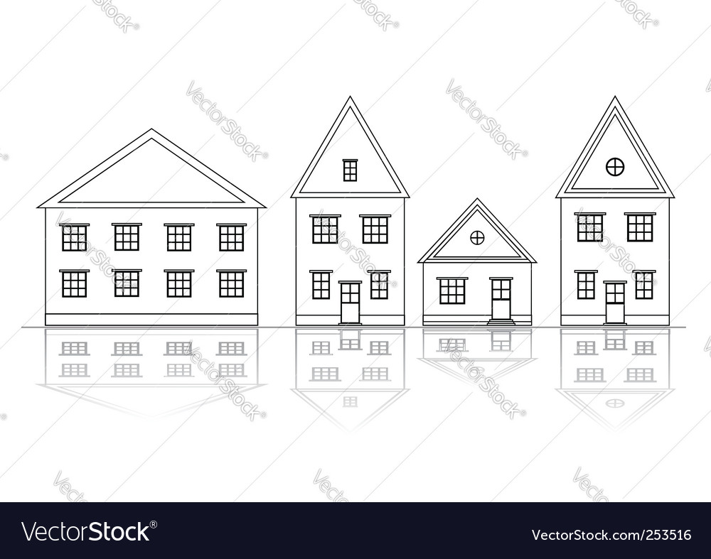 House views vector | Price: 1 Credit (USD $1)