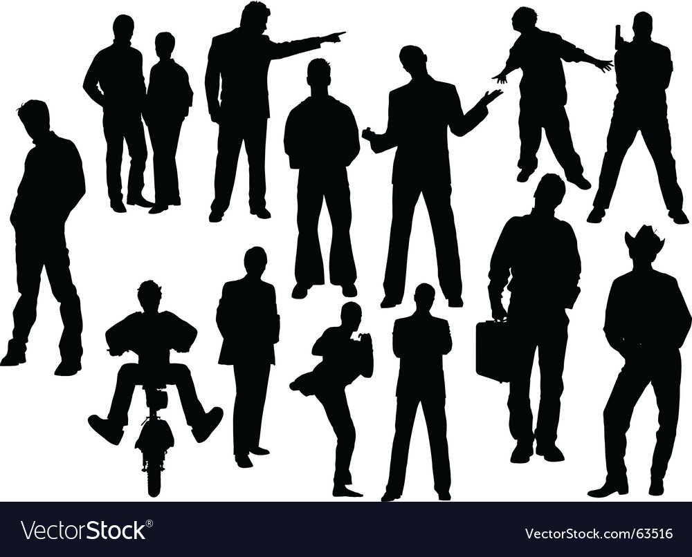 Man silhouettes vector | Price: 1 Credit (USD $1)