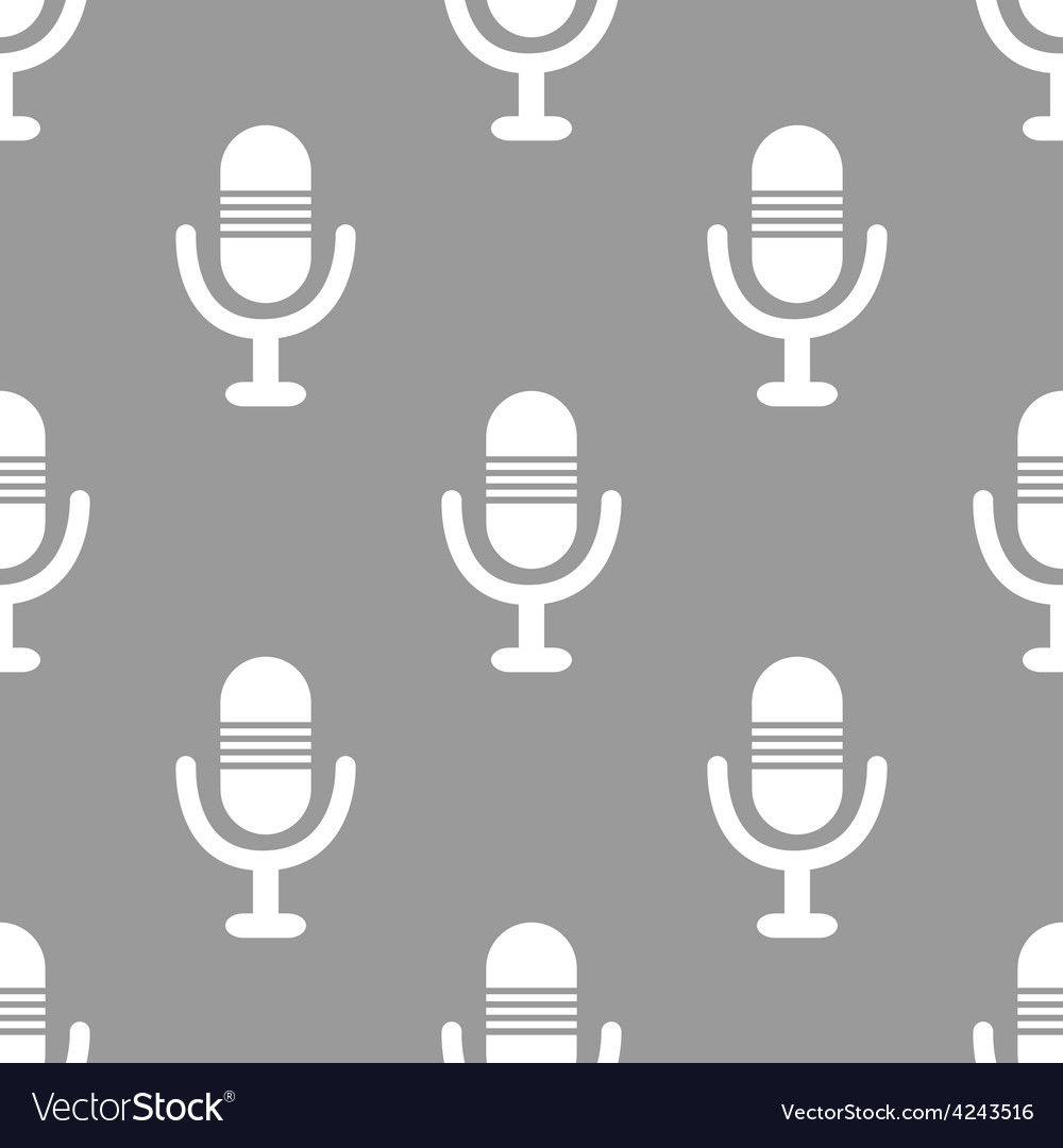 Microphone seamless pattern vector | Price: 1 Credit (USD $1)
