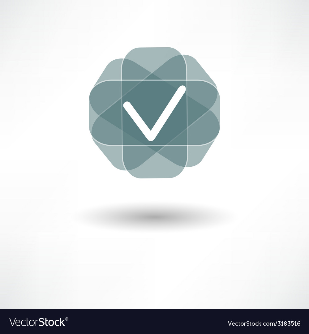 Tick icon vector | Price: 1 Credit (USD $1)