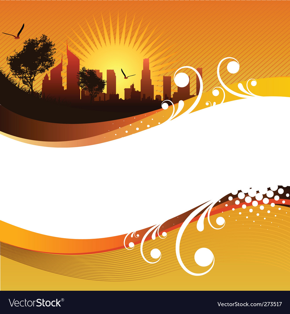 Abstract city background vector | Price: 1 Credit (USD $1)