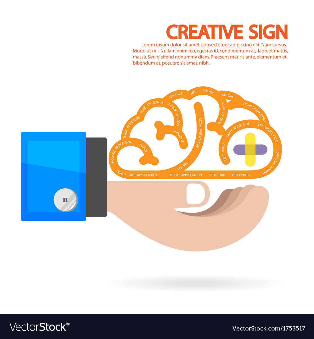 Creative brain idea concept background vector | Price: 1 Credit (USD $1)