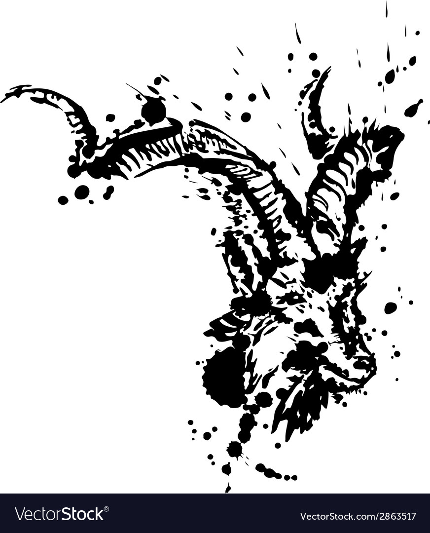 Grunge of goat vector | Price: 1 Credit (USD $1)