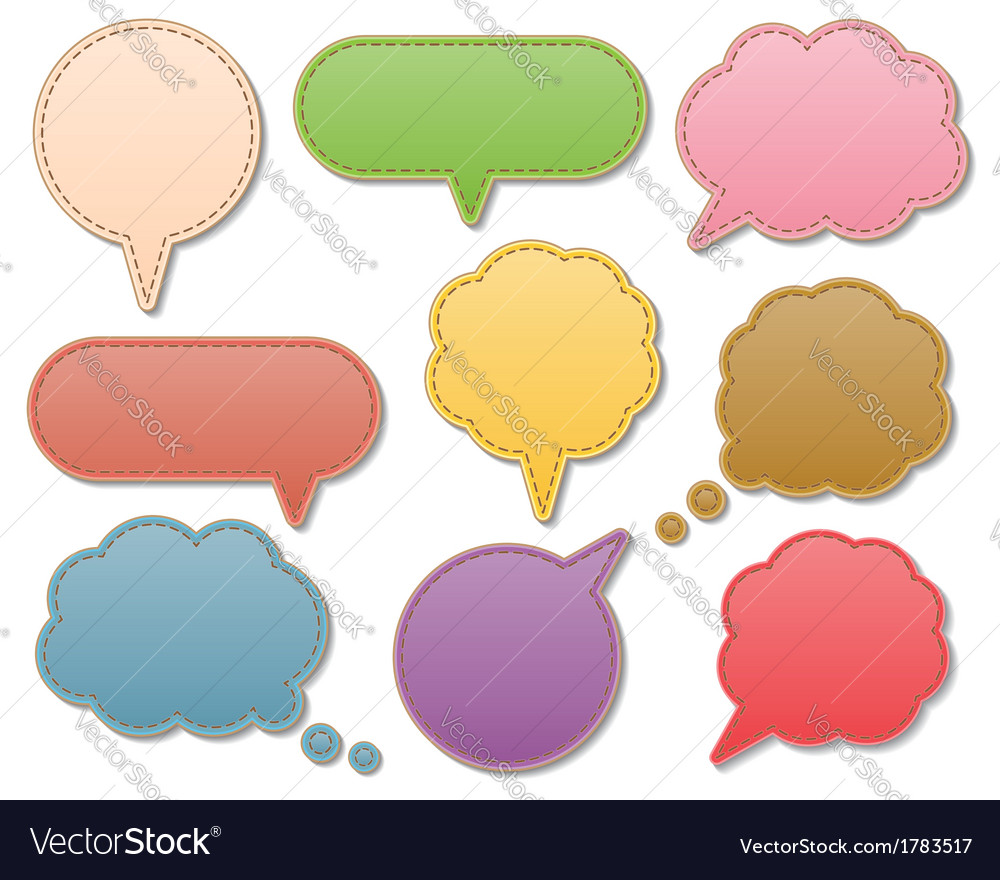Leather speech bubbles vector | Price: 1 Credit (USD $1)