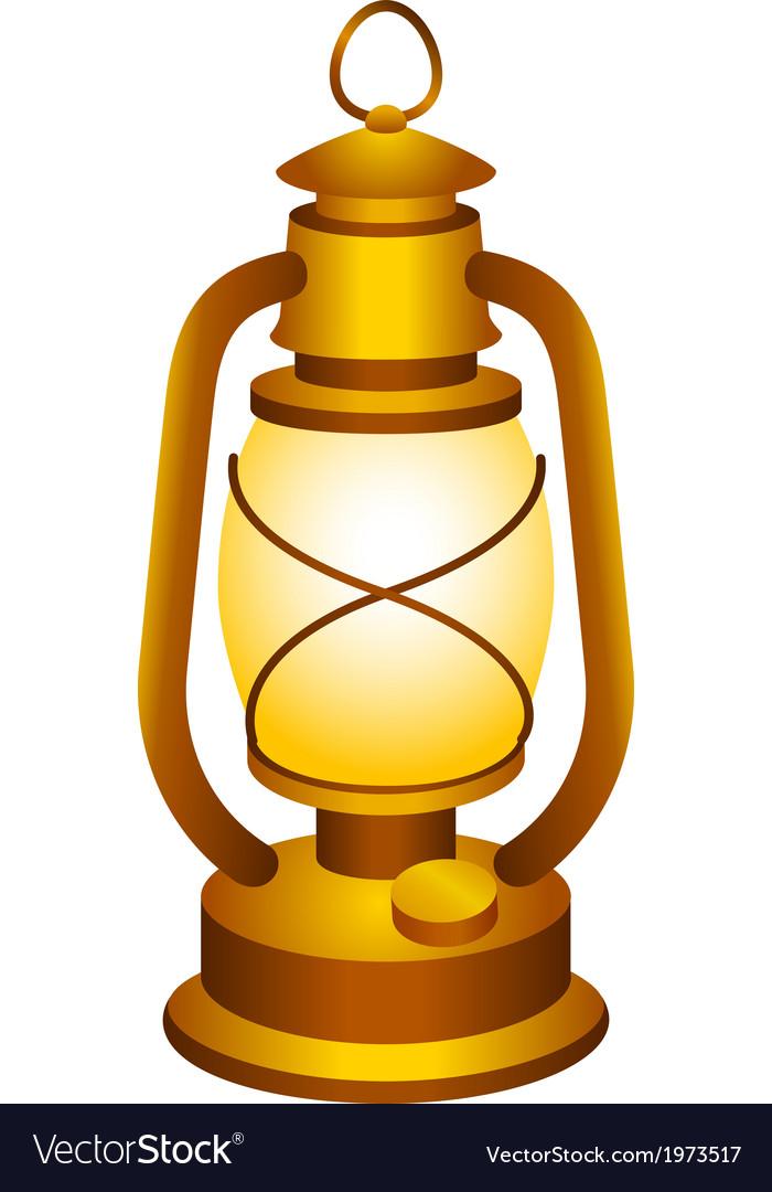Old lantern vector | Price: 1 Credit (USD $1)
