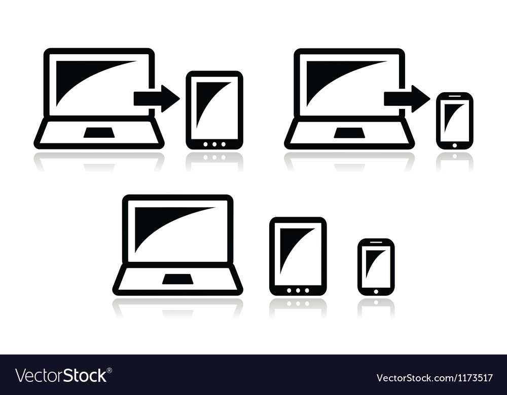 Responsive design - laptop tablet smarthone icon vector | Price: 1 Credit (USD $1)
