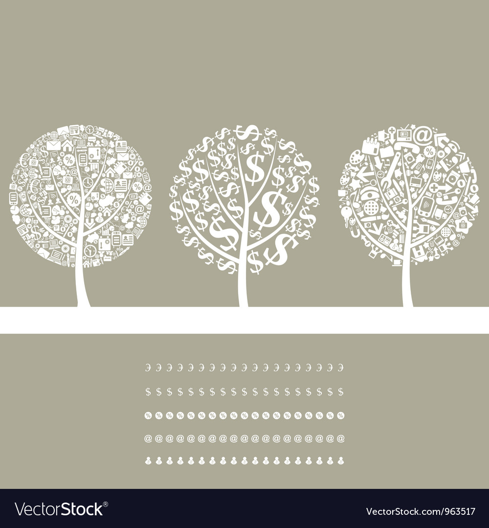 Tree business2 vector | Price: 1 Credit (USD $1)