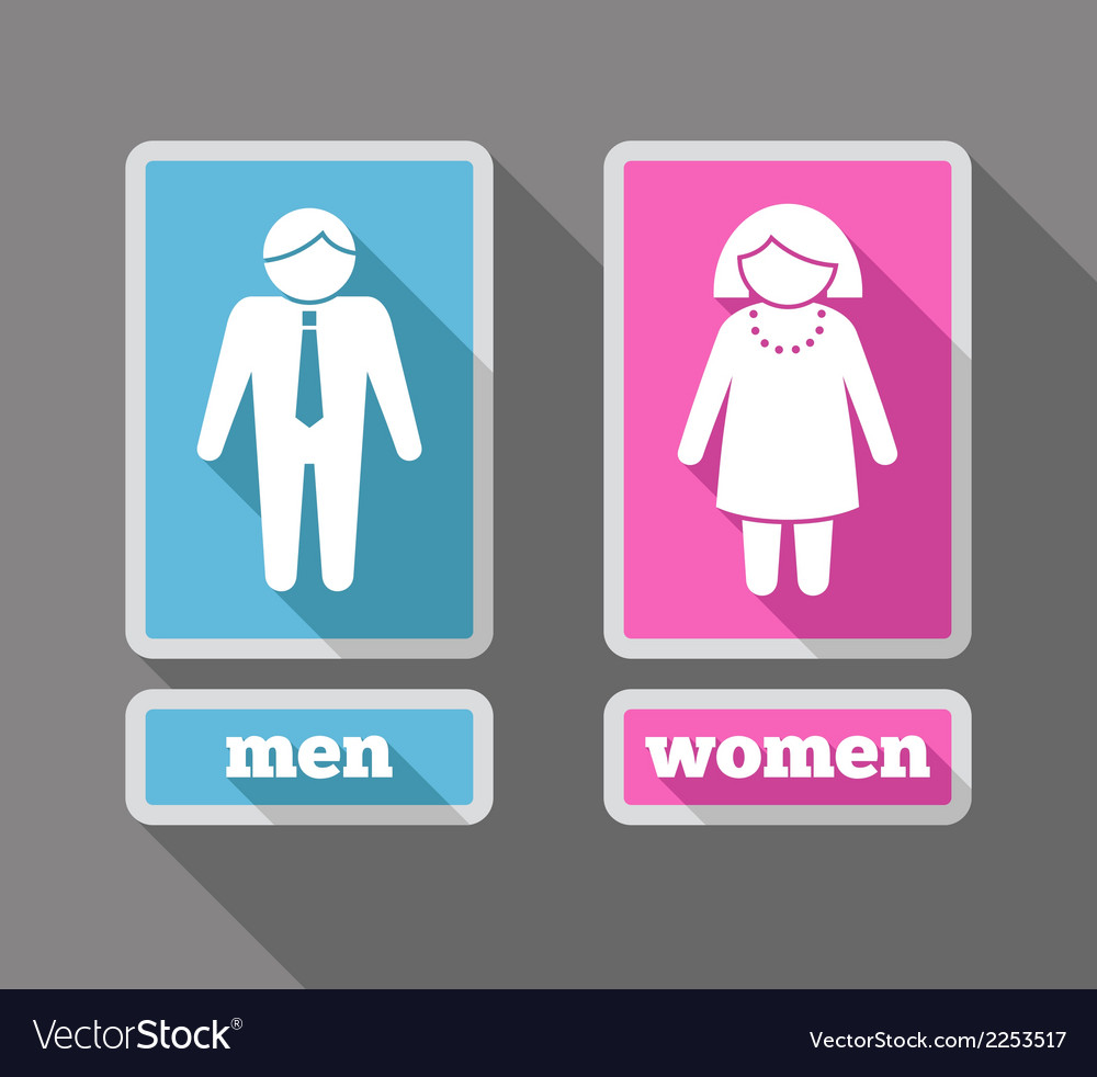 Women and men icons set colored vector | Price: 1 Credit (USD $1)
