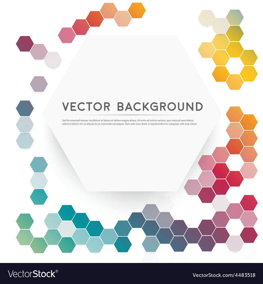 Abstract color 3d hexagonal vector | Price: 1 Credit (USD $1)