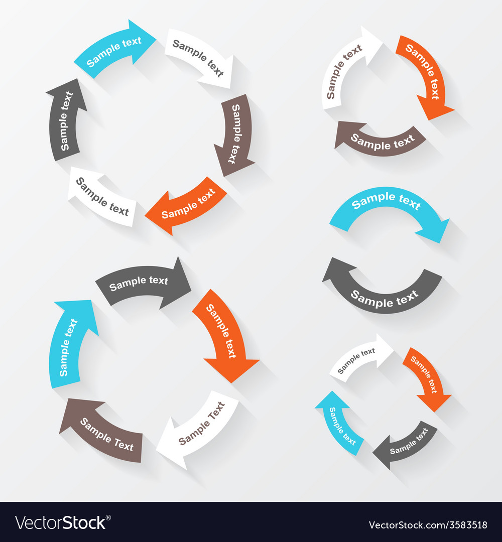 Circle arrows for infographic template for diagram vector | Price: 1 Credit (USD $1)