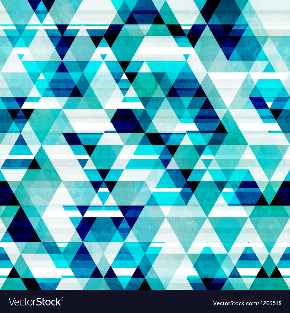 Crystal triangle seamless pattern vector | Price: 1 Credit (USD $1)